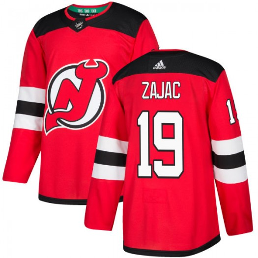Travis Zajac New Jersey Devils Men's Adidas Authentic Red Jersey