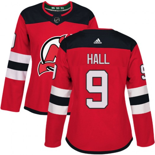 Taylor Hall New Jersey Devils Women's Adidas Authentic Red Home Jersey