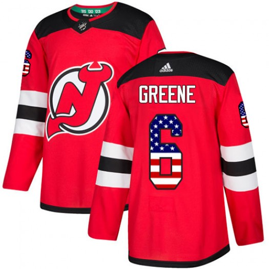 Andy Greene New Jersey Devils Men's Adidas Authentic Green Red USA Flag Fashion Jersey