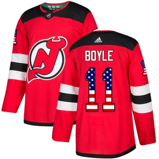 Brian Boyle New Jersey Devils Men's Adidas Authentic Red USA Flag Fashion Jersey