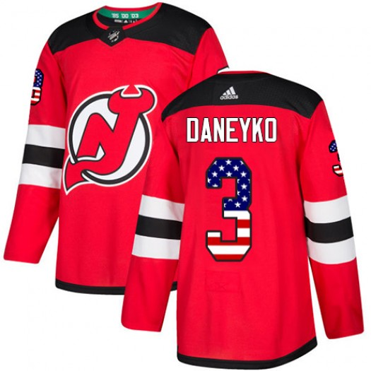 Ken Daneyko New Jersey Devils Youth Adidas Authentic Red USA Flag Fashion Jersey